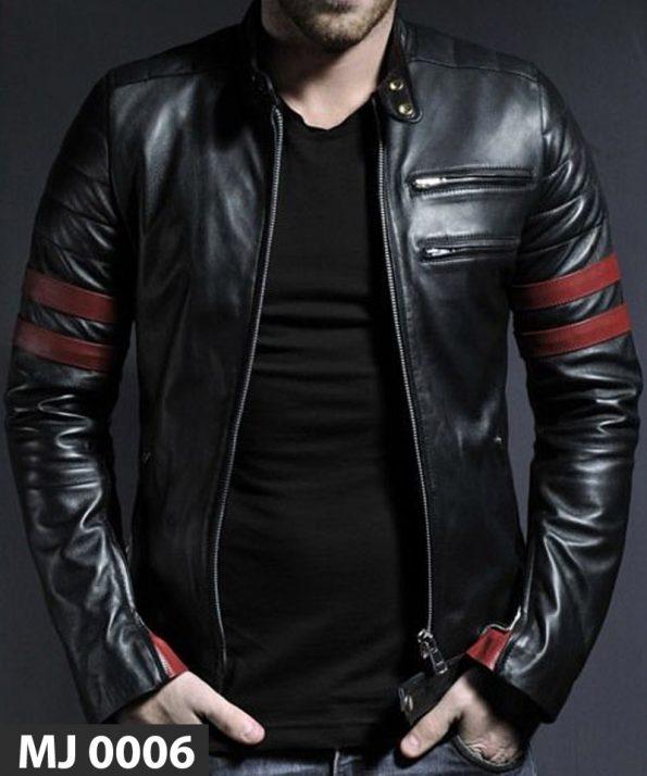 Jaket Kulit Red Stripe MJ 0006