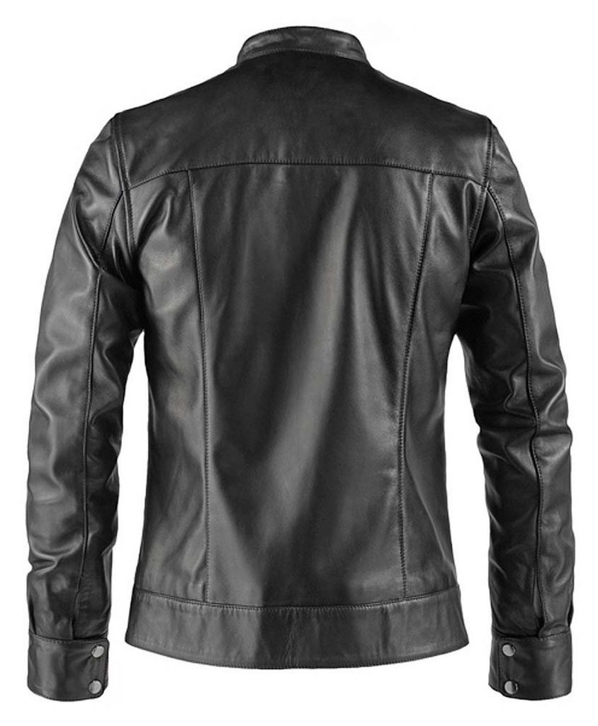 Hit the Road Bobberstyle Leather Jacket Belakang