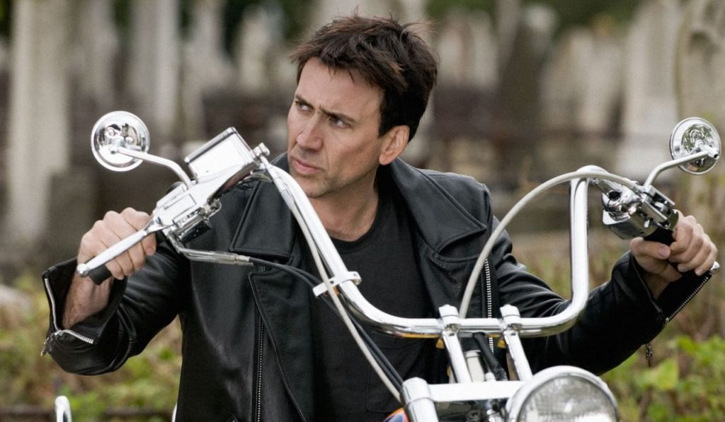 Jaket Kulit Ghost Rider Nicolas Cage Black