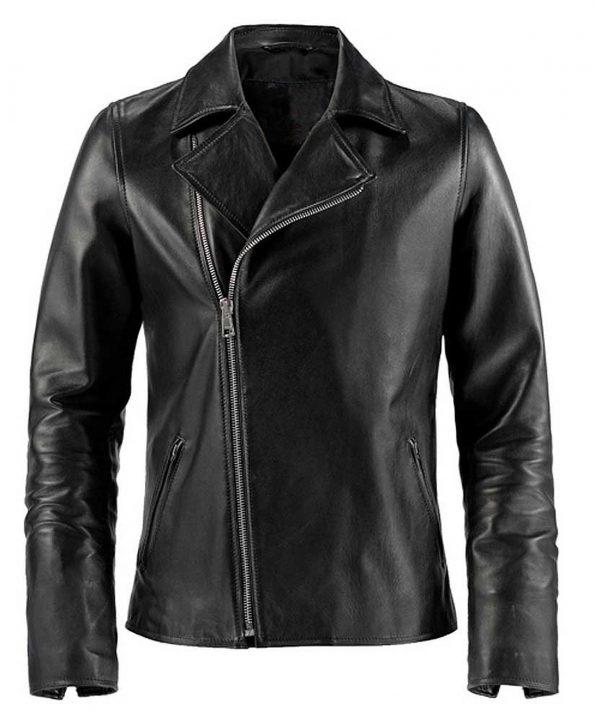 Jaket Kulit Ghost Rider Nicolas Cage Black Depan