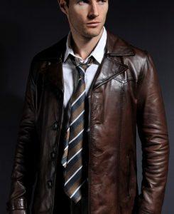Jaket Kulit Heist Vintage Brown