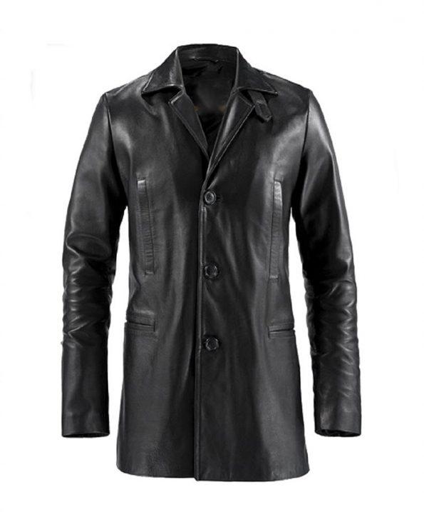 Jaket Kulit Max Payne Depan