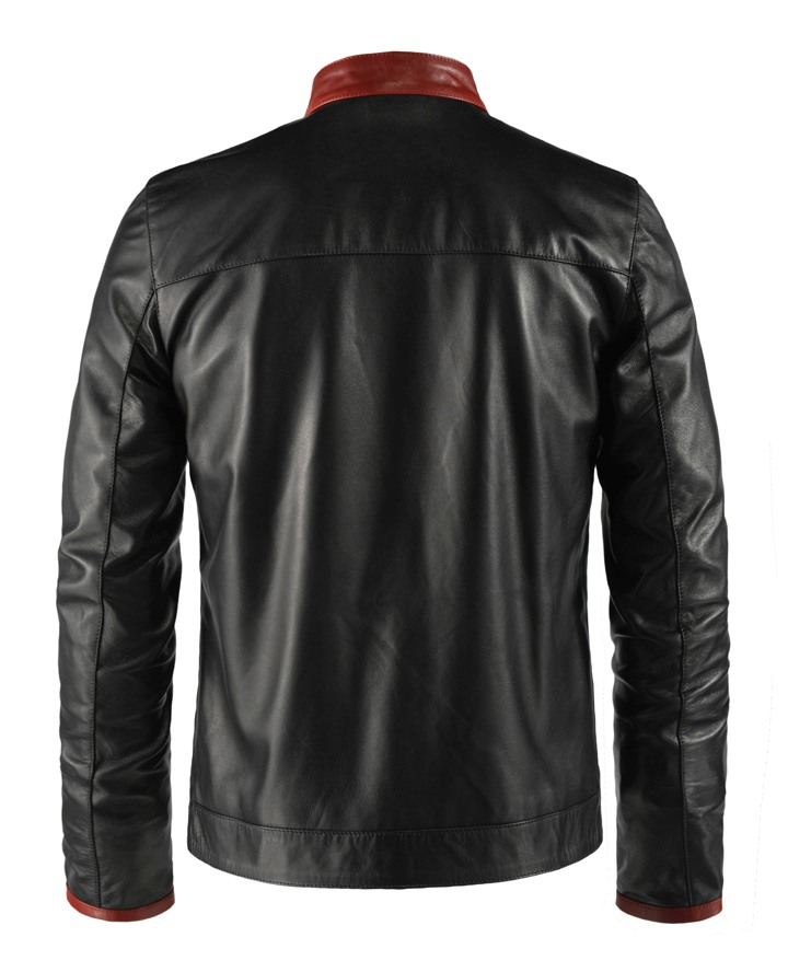 Jaket Kulit Replika Dark Knight Belakang
