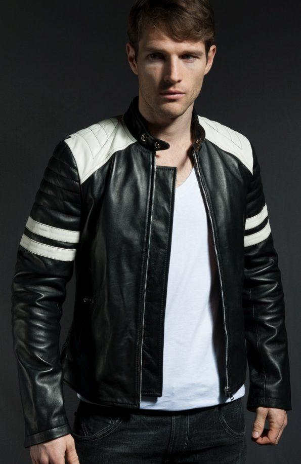 Jaket Kulit Tyler Durden Fight Club Black