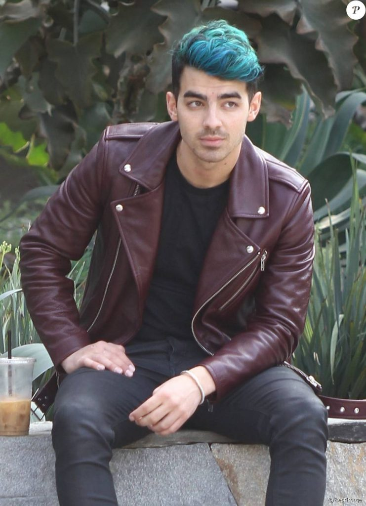 Joe Jonas Rockabillystyle Leather Jacket