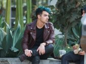 Joe Jonas Rockabillystyle Leather Jacket Depan