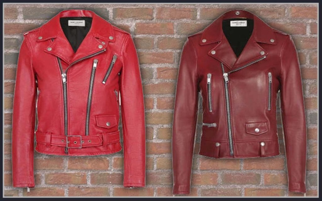 Jaket Kulit Asli Warna Merah Cewek