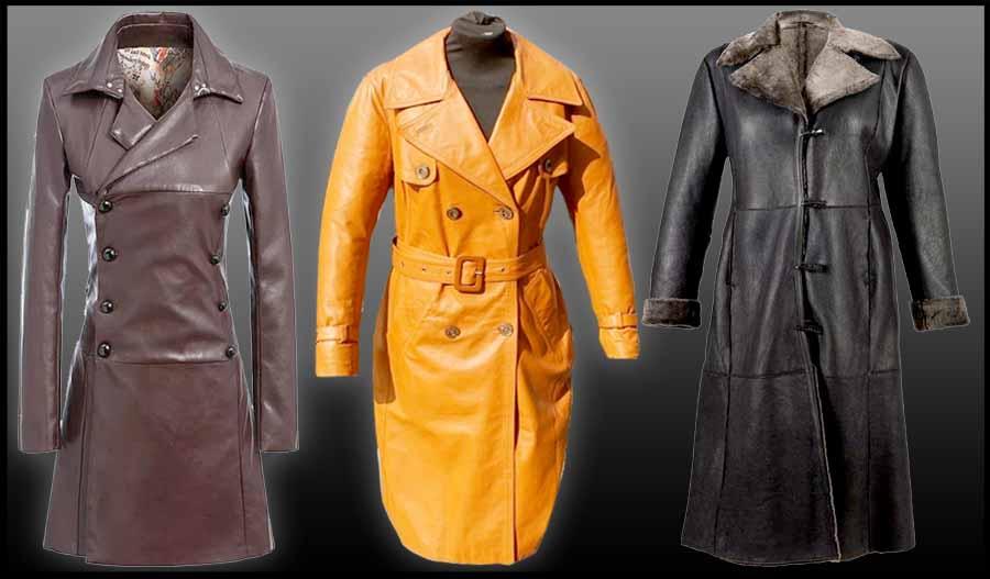 Jaket Kulit Cewek Panjang