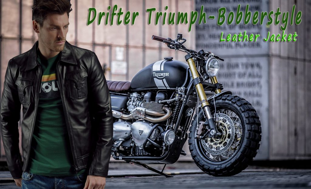 Drifter Triumph-Bobberstyle Leather Jacket