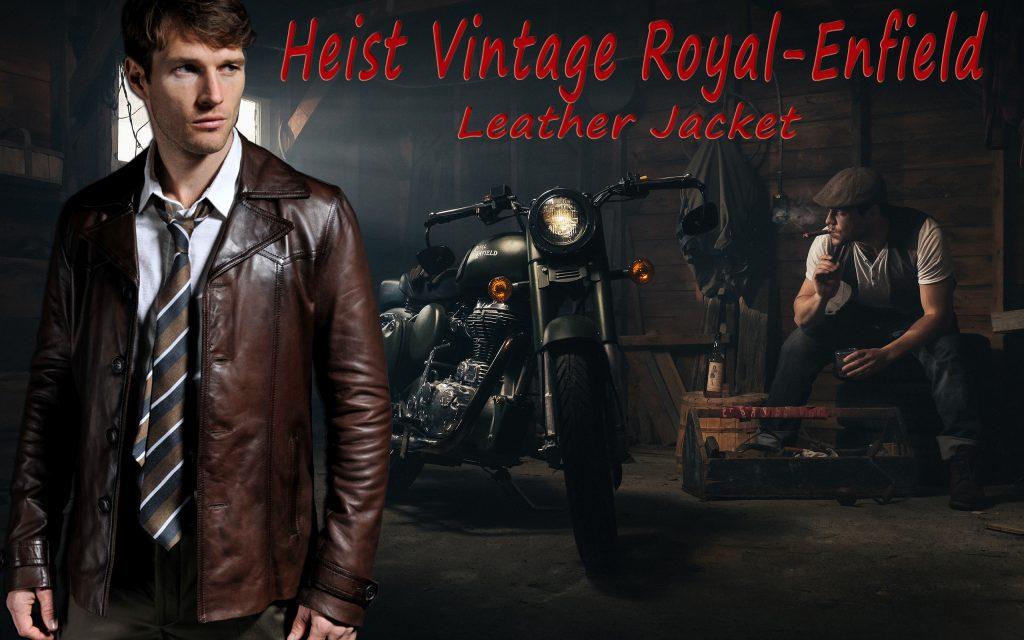 Heist Vintage Royal-Enfield Leather Jacket