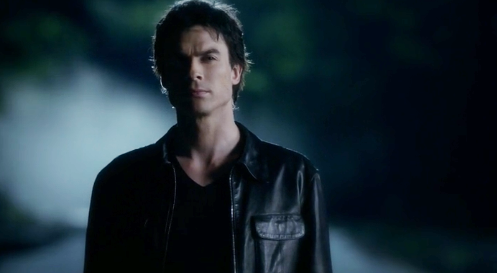 Jaket Kulit Damon Salvatore Vampire Diaries Wallpaper