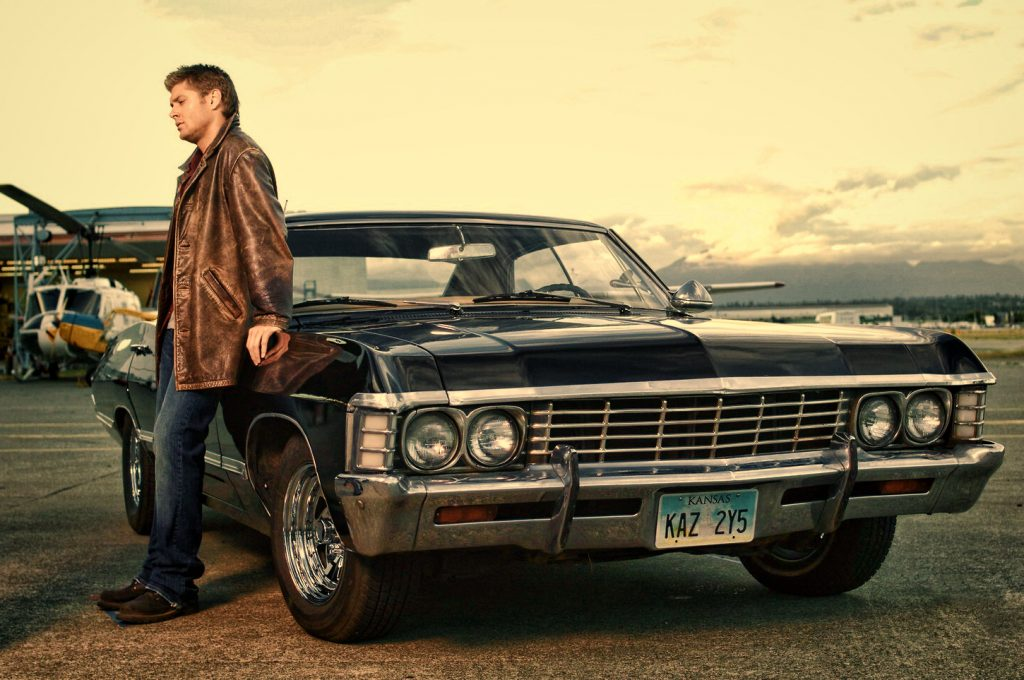 Jaket Kulit Dean Winchester and the Impala Supernatural