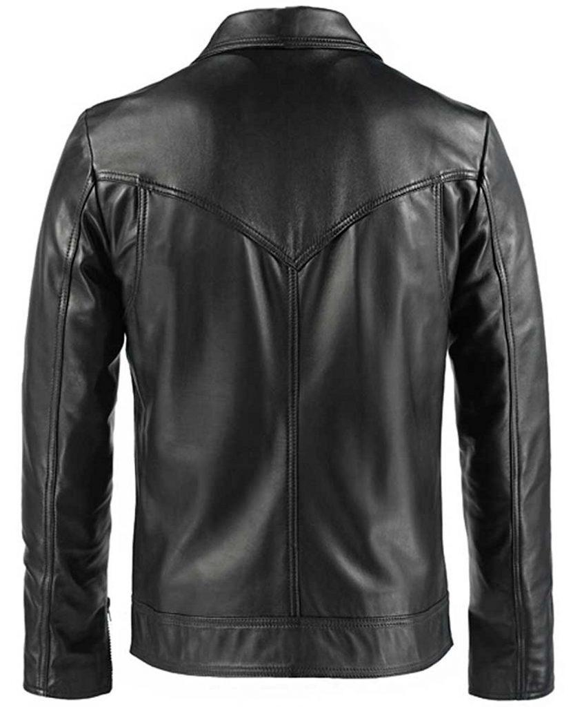 Jaket Kulit Drifter Vintage Hitam Belakang