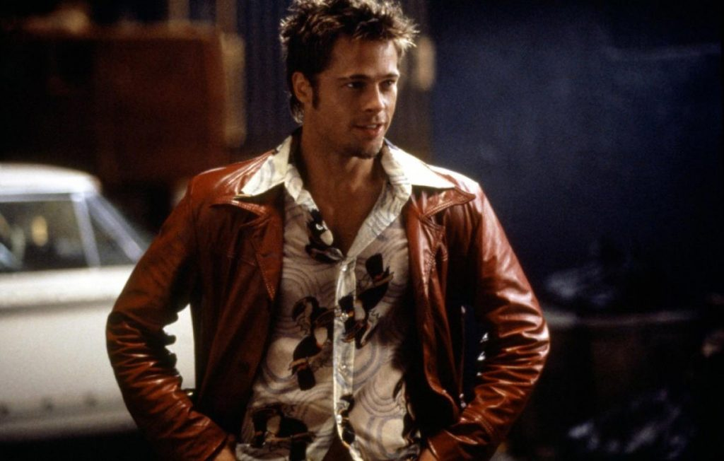 Jaket Kulit Fight Club Style Origin Red Brad Pitt Wallpaper
