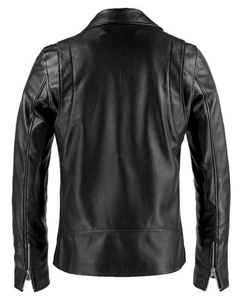 Jaket Kulit Ghost Rider Nicolas Cage Black Belakang