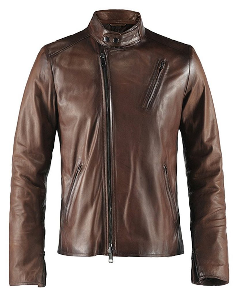 Jaket Kulit Ironman Brown Depan