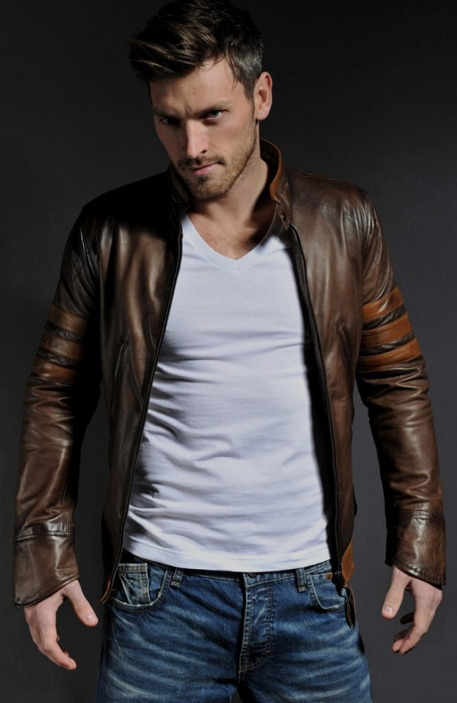 Jaket Kulit Logan Wolverine X Men Origin Brown
