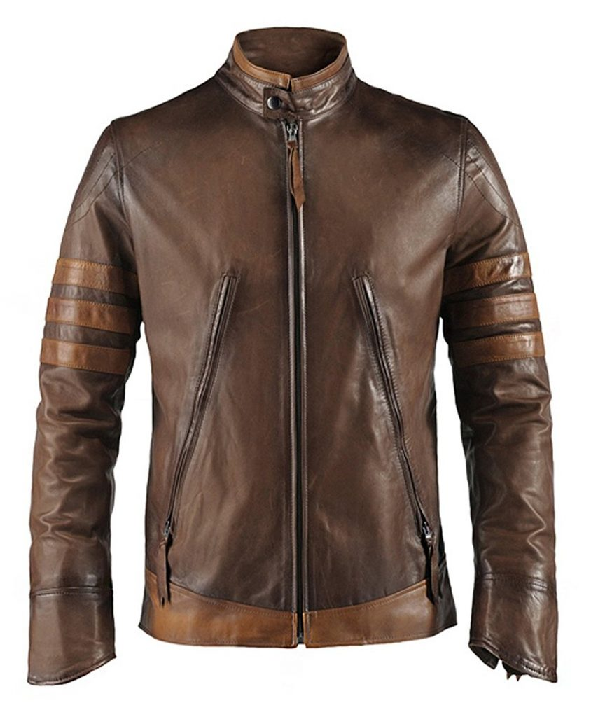 Jaket Kulit Logan Wolverine X Men Origin Brown Depan