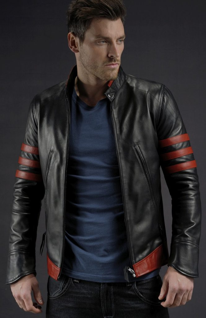 Jaket Kulit Logan Wolverine X Men Origin Hitam