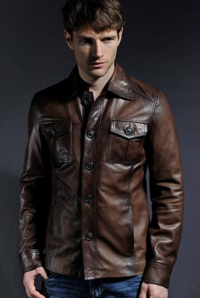 Jaket Kulit The Haymaker Brown