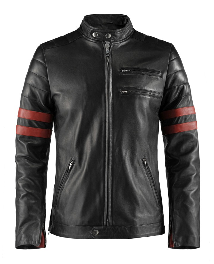 Jaket Kulit The Ultimate Bomberleather Supremacy Triumph Red Depan