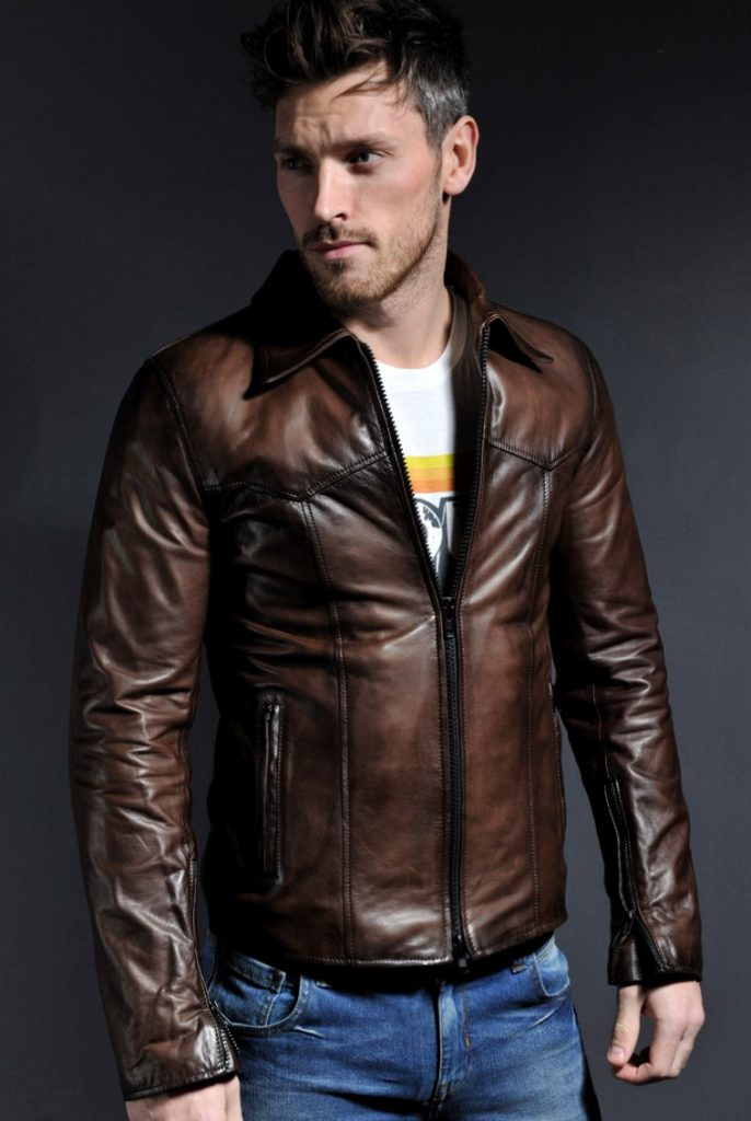 Jaket Kulit The Wheelman Brown