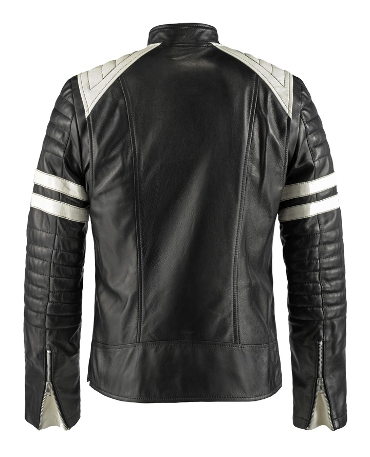 Jaket Kulit Tyler Durden Fight Club Black Belakang