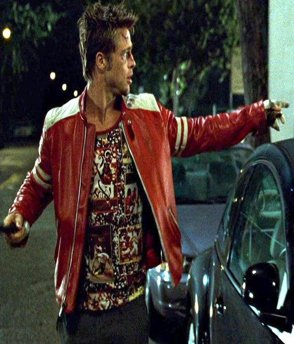 Jaket Kulit Tyler Durden Fight Club Brad Pitt