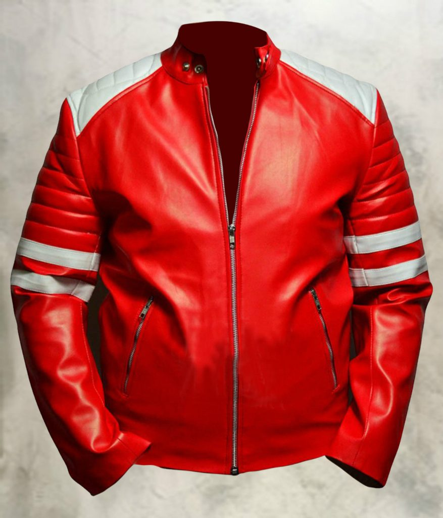 Jaket Kulit Tyler Durden Fight Club Red Depan