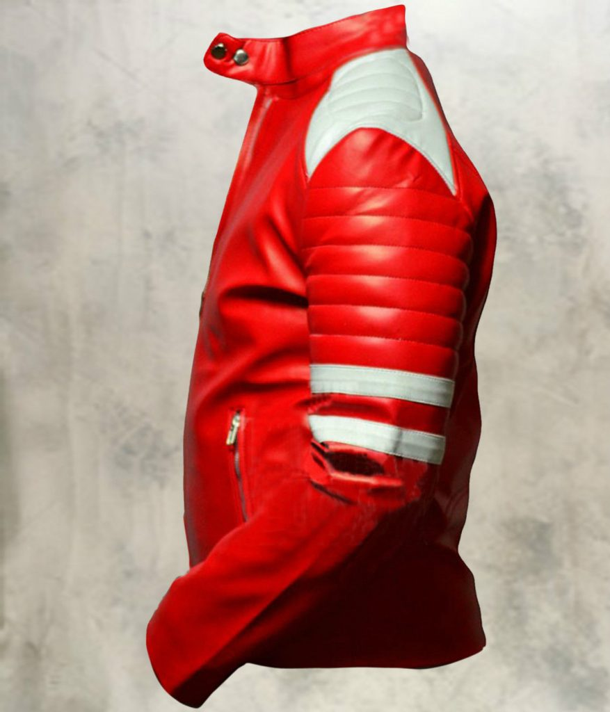 Jaket Kulit Tyler Durden Fight Club Red Side