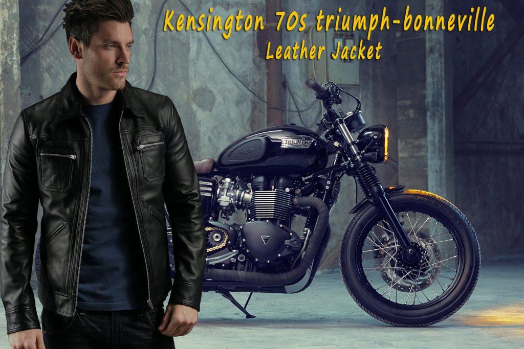 Kensington 70s triumph-bonneville Leather Jacket