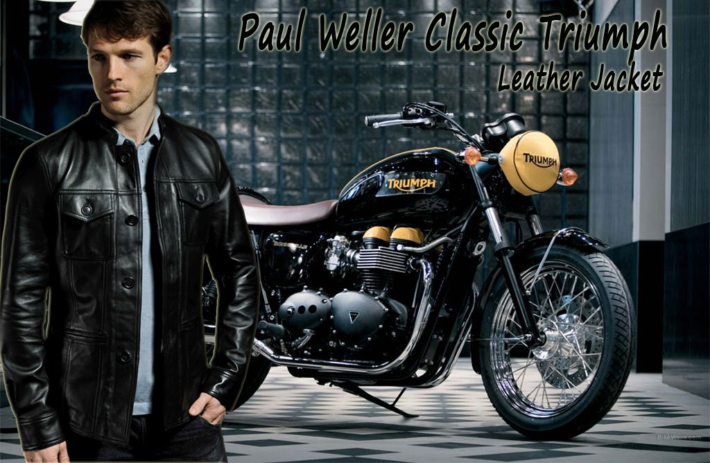 Paul Weller Classic Triumph Leather Jacket