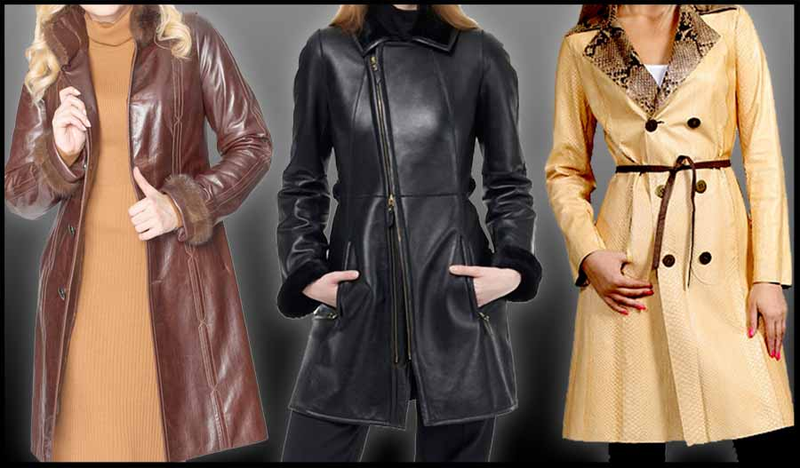 Jaket Kulit Model Panjang Cewek