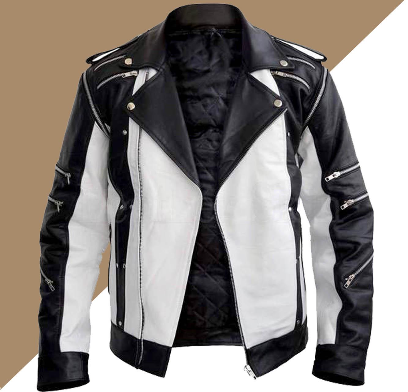 Jual Jaket Kulit Warna Putih