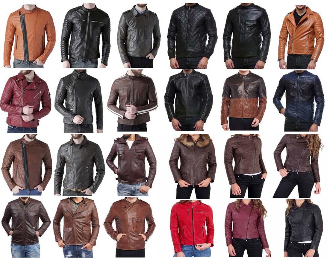 Pesan Jaket Kulit Hitam, Coklat, Merah, Putih, Hijau, Biru Atau Vintage