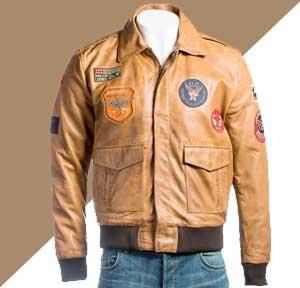Jaket Kulit Pria Bomber Militer Angkatan Udara Amerika
