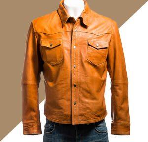 Jaket Kulit Pria Warna Tan Bagus