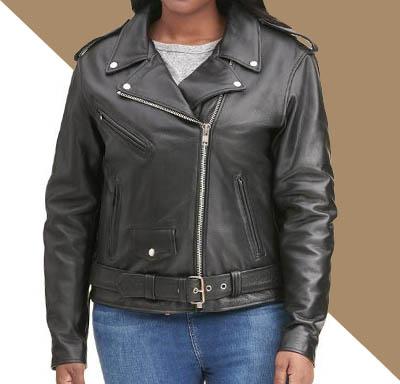 jual jaket kulit cewek big size