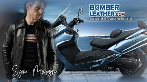 jaket kulit rompi kulit celana kulit chaps tas kulit saddle bag motor Sym