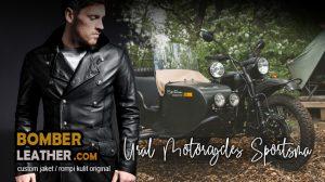 jaket kulit rompi kulit, celana kulit & chaps, tas kulit & saddle bag motor ural